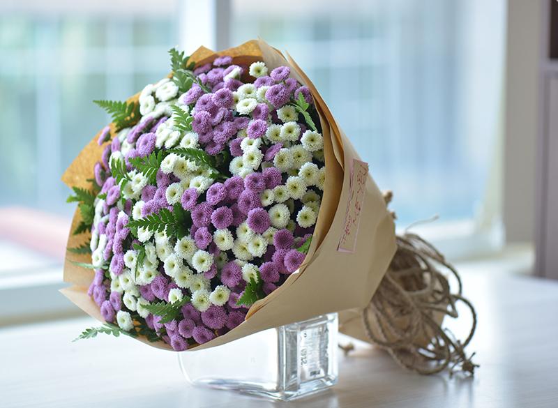 hoa sinh nhat mau tim dep